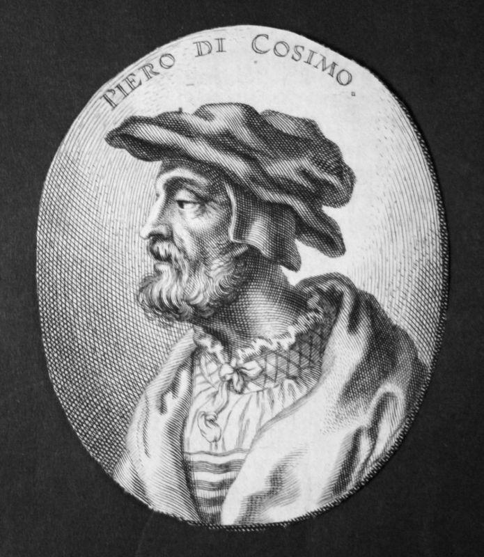 1700 Piero di Cosimo Italien Italia draftsman Maler painter Kupferstich Portrait