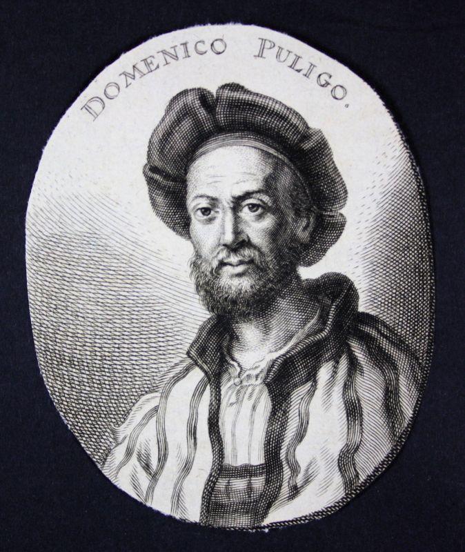 1700 Domenico Puligo Florenz Italien Italia Maler painter Kupferstich Portrait