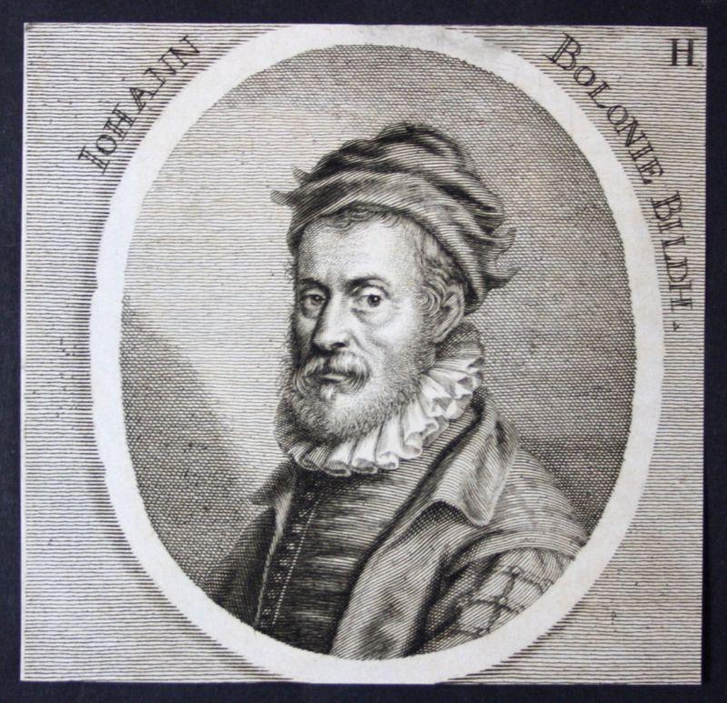 1700 Giovanni Bologna Bildhauer sculptor Kupferstich etching Portrait