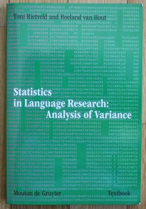 Rietveld - Statistics in Language Research: Analysis of Variance 2005