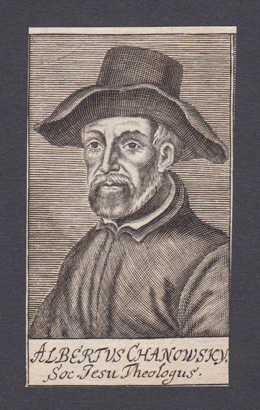 17. Jh. - Albert Chanowski / theologian Theologe Portrait Kupferstich