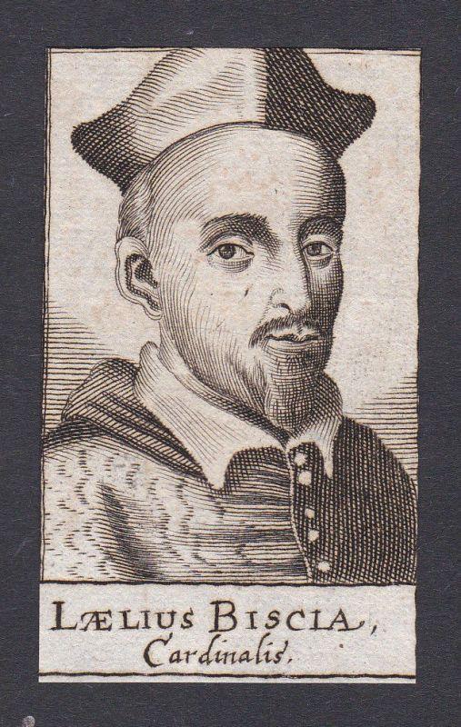 17. Jh. - Lelio Biscia / cardinal Kardinal Italia Portrait Kupferstich