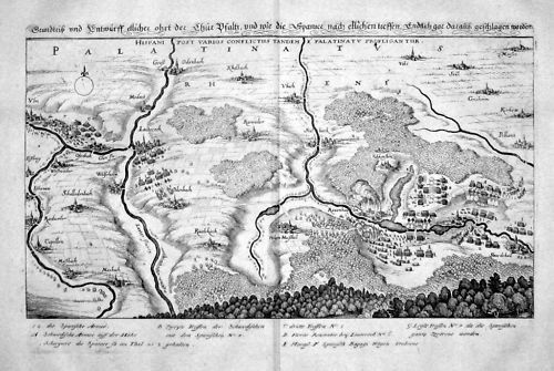 1650 - Lauterecken Kurpfalz Kupferstich Karte Merian