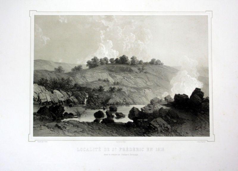 Ca. 1860 St Federico Toskana Tuscany Italia Toscana veduta Lithographie L 110534
