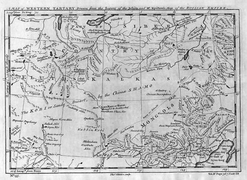 1750 - Russia Western Tartary Map