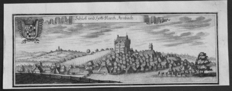 1701 - Arnbach Schwabhausen Dachau Kupferstich Wening 84871