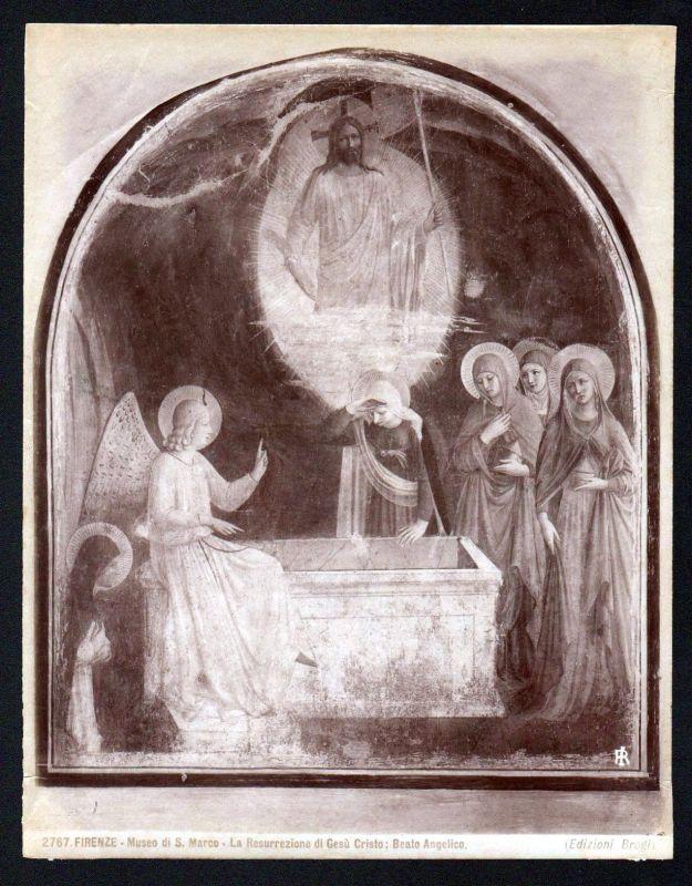 La Resurrezione di Gesu Jesus Beato Angelico Firenze albumen Foto photo vintage