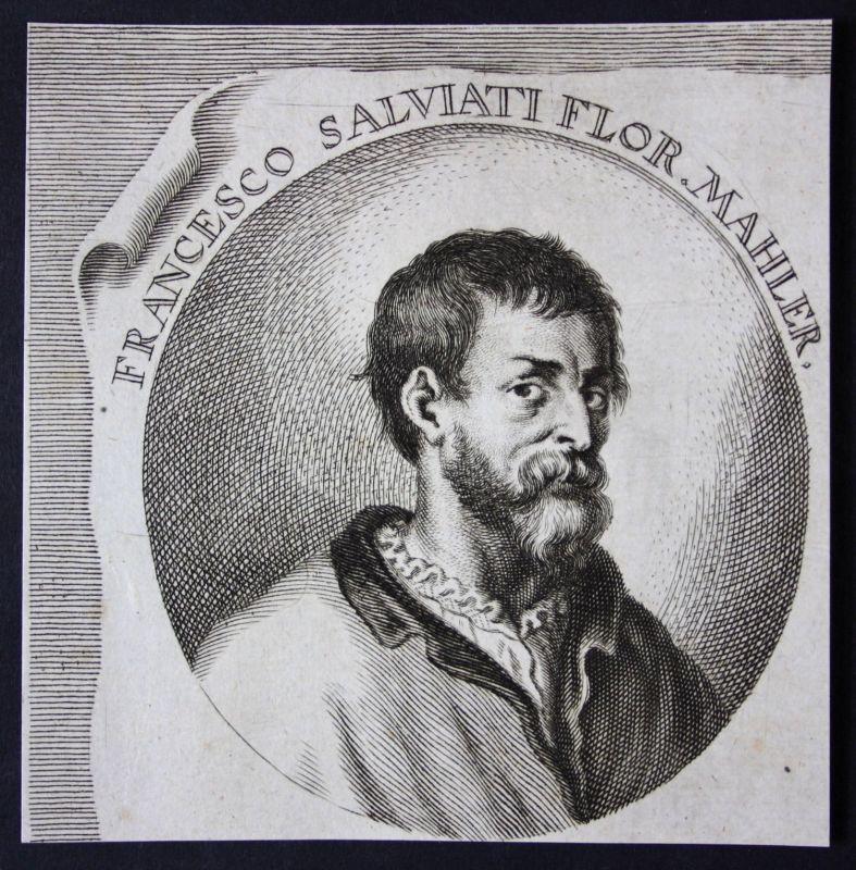 Francesco Salviati Italia Italien Maler painter Kupferstich etching Portrait
