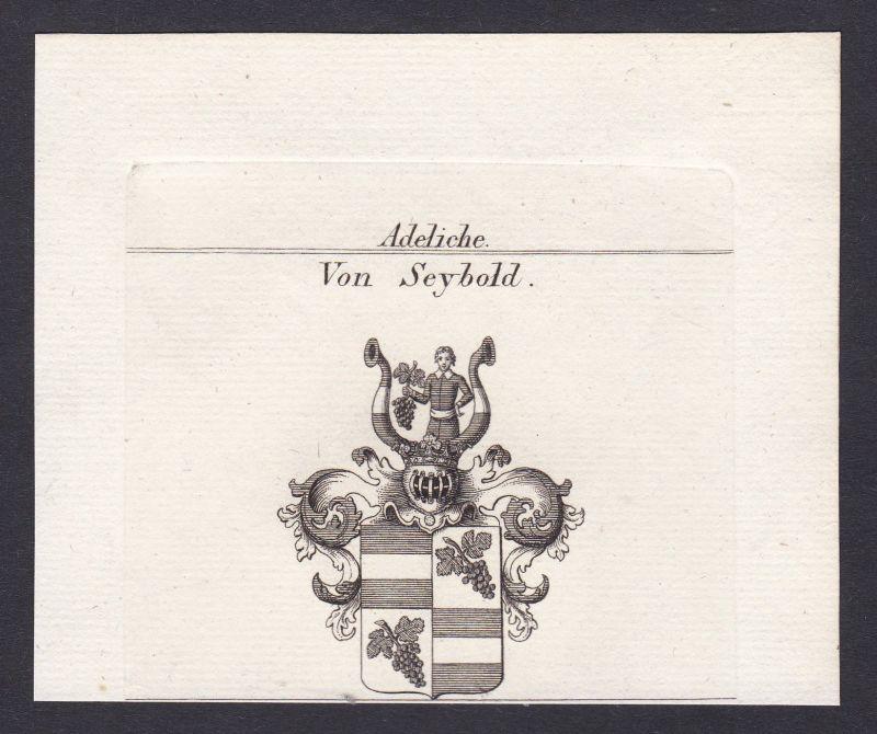 Seybold Seibold Schwaben Wappen Adel coat of arms Kupferstich antique print