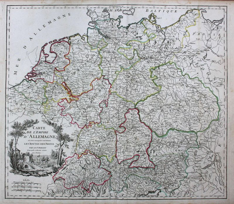 Deutschland Germany Tschechien Czech Austria Karte map Kupferstich antique print