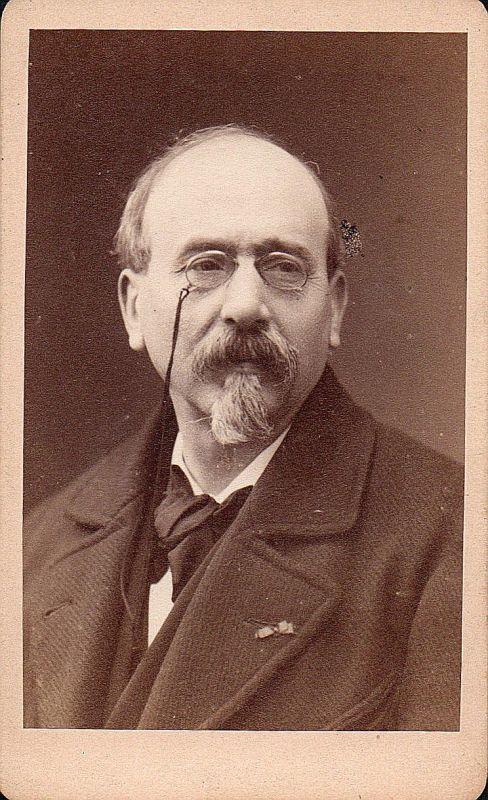 Jules Michelet Historiker historian historien Portrait CDV Foto Photo vintage
