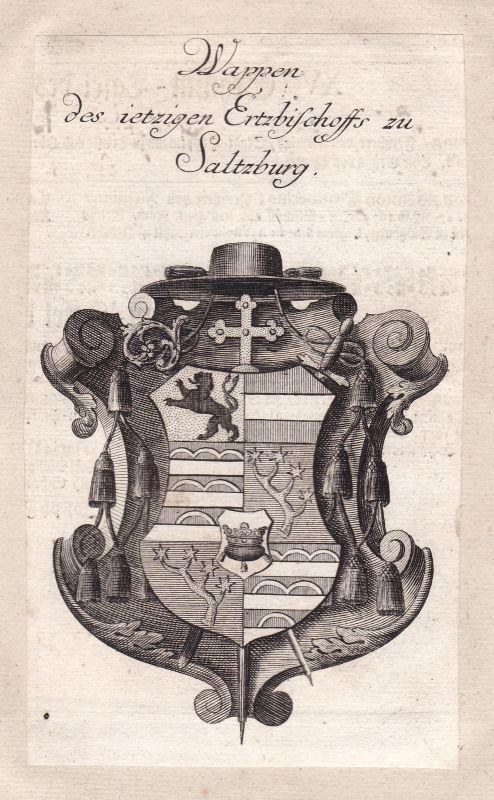 Österreich Austria Salzburg Adel Wappen coat of arms Kupferstich antique print