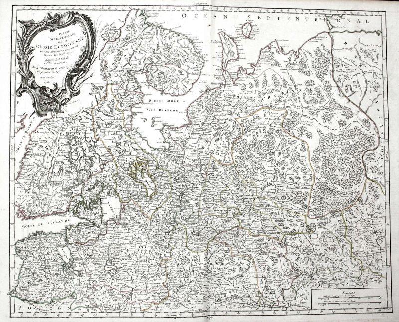 1753 Russland Russia Moskau Asien Asia Karte map Kupferstich antique print