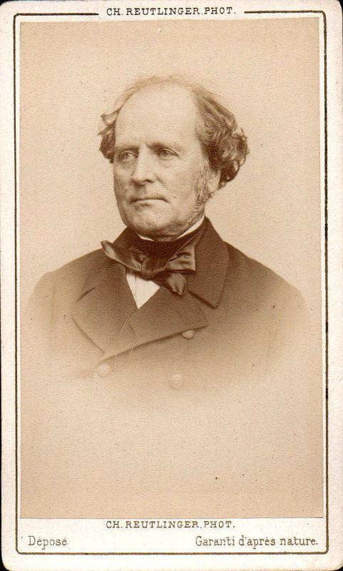Francois Mignet Historiker historian historien Portrait CDV Foto Photo vintage