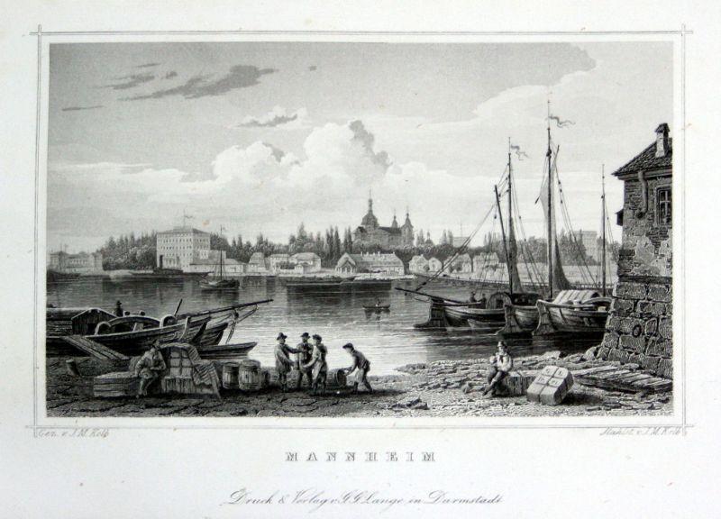 1850 Mannheim Deutschland Stahlstich