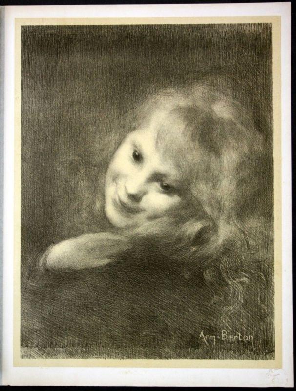 1897 Armand Berton Art Nouveau Jugendstil Lithographie Poster estampe Moderne