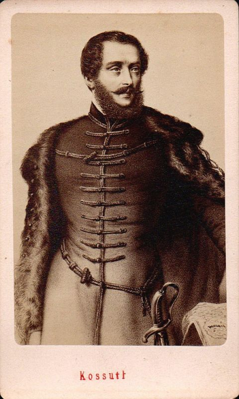 Lajos Kossuth Politiker politician Anwalt Portrait CDV Foto Photo vintage 1850