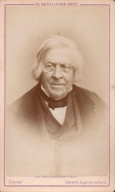 Jules Michelet Historiker historian historien Portrait CDV Foto Photo vin 162300