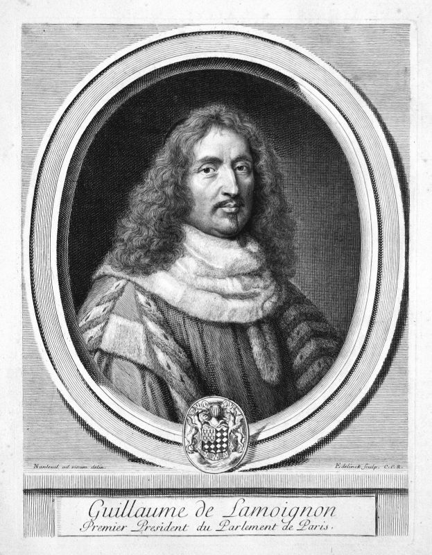 Guillaume de Lamoignon Jurist jurist avocat Portrait Kupferstich engraving