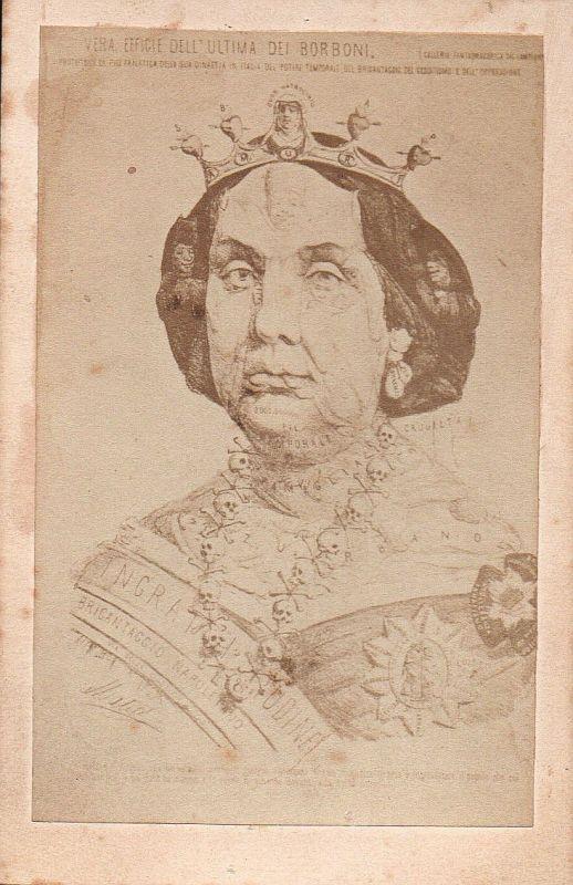 Isabelle II Königin Queen Reina Spanien Spain Espana CDV vintage