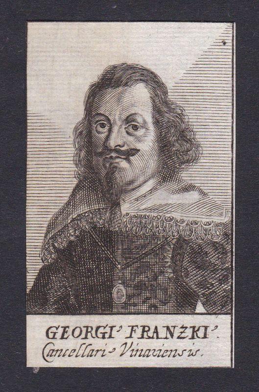 17. Jh. Georg von Frantzke Portrait Kupferstich antique print