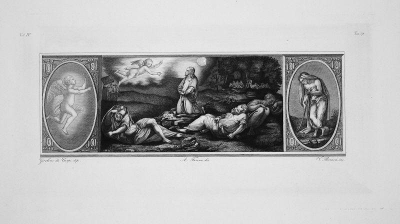 Girolamo da Carpi Jesus au Jardin des Oliviers Radierung engraving gravure