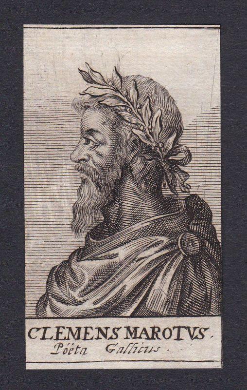 17. Jh. - Clement Marot / poet Portrait Kupferstich