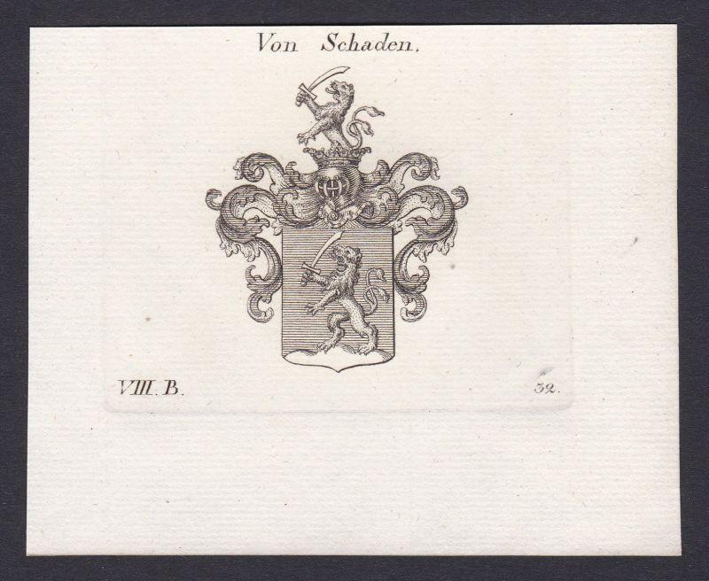 1820 Schaden Wappen Adel coat of arms Heraldik Kupferstich antique print