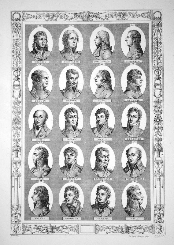 Napoleon Bonaparte Generäle generals Herrführer commander Portraits portrait D-G