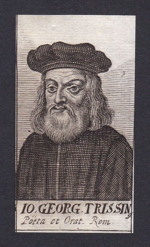 17. Jh. - Gian Giorgio Trissino / humanist poet Roma Portrait Kupferstich