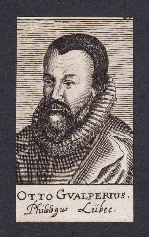 17. Jh. Otto Walper / professor Professor Lübeck Portrait Kupferstich