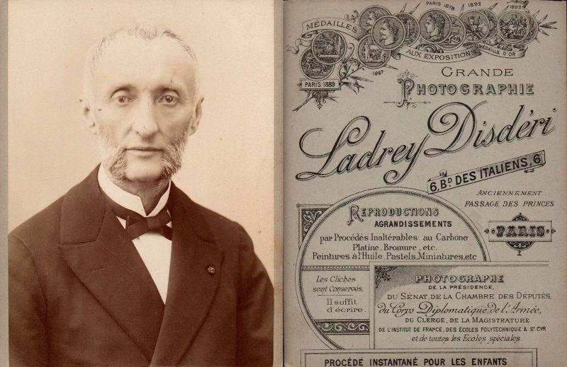 Felix Jules Meline Politiker politician cabinet card Kabinett-Foto Photo 1890