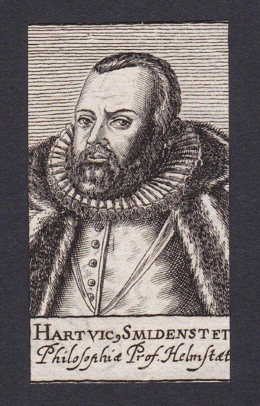 17. Jh. Hartwig Smidenstedt philosopher Philosoph Helmstadt Portrait Kupferstich