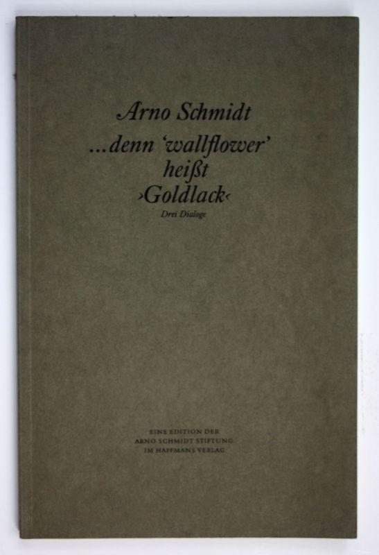 1984 Arno Schmidt ... denn
