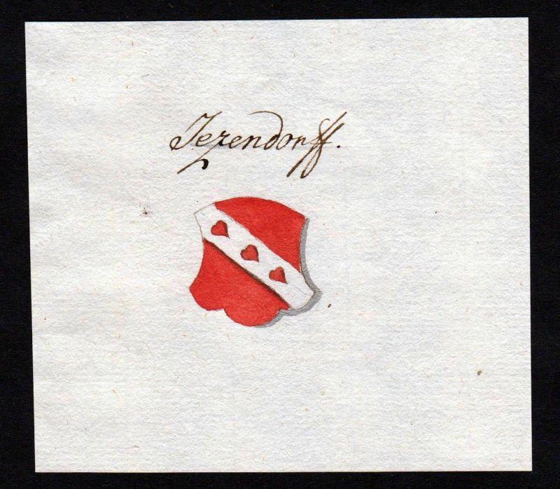 18. Jh. Jetzendorf Handschrift Manuskript Wappen manuscript coat of arms