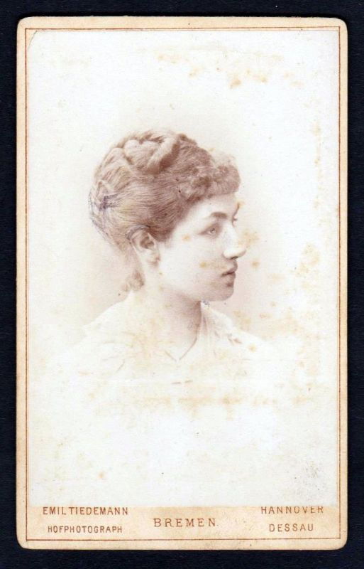 Ca. 1870 Charlotte von Schaumburg-Lippe CDV Photo vintage Foto