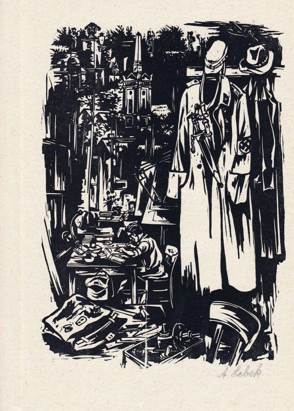 1985 Johannes Lebek Holzschnitt aus der Folge der Lebenserinnerungen signiert
