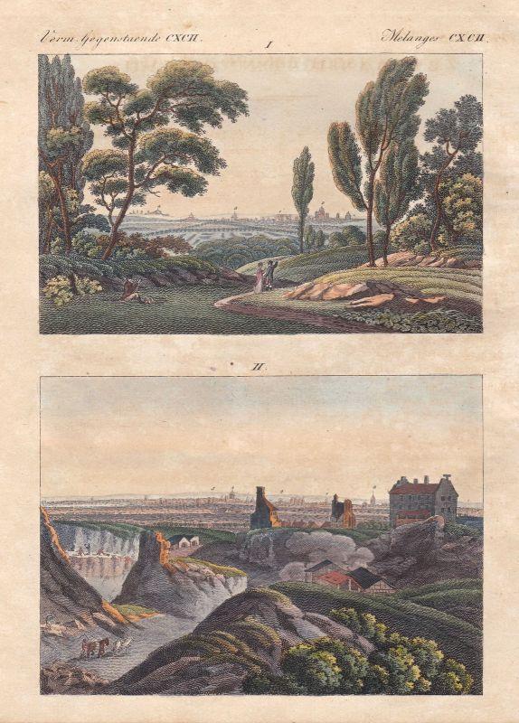 Paris Frankreich France Saint-Cloud Montmartre Ansicht view Bertuch 1800