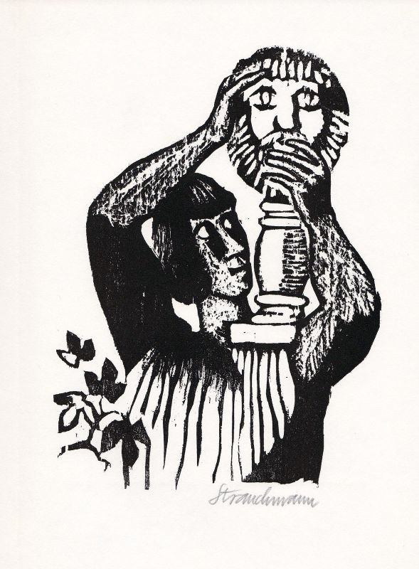 1966 Went Strauchmann Petronius Holzschnitt
