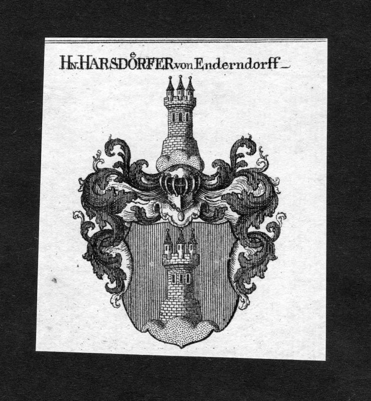 1820 - Harsdörfer von Enderndorff Harsdorf Wappen Adel coat of arms Heraldik