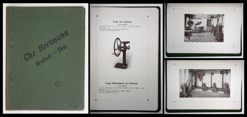 Chr. Kortmann Arnstadt Katalog 1928 catalogue Metzger Fleischerei Maschinen