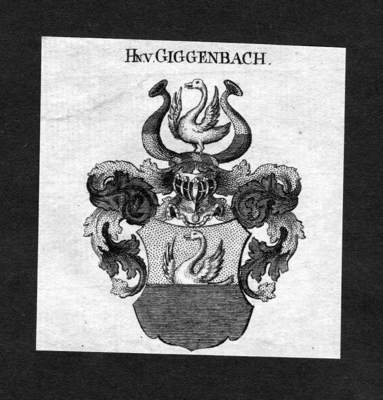 1820 - Giggenbach Wappen Adel coat of arms heraldry Heraldik Kupferstich