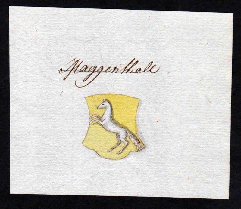 18. Jh. Maggenthal Handschrift Manuskript Wappen manuscript coat of arms