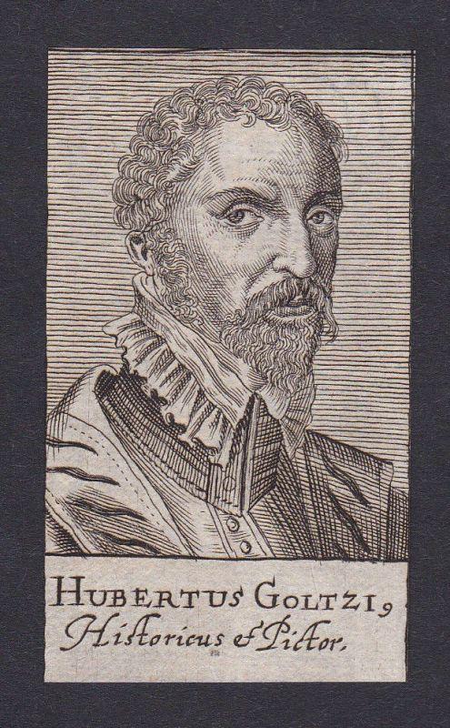 17. Jh. Hubertus von der Goltz / sculptor Bildhauer Potsdam Portrait Kupferstich