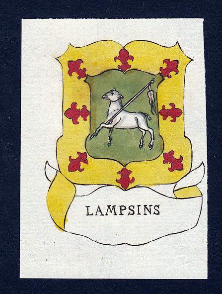 Appolonius Jan Cornelis Baron Lampsins Wappen coat of arms Kupferstich engraving