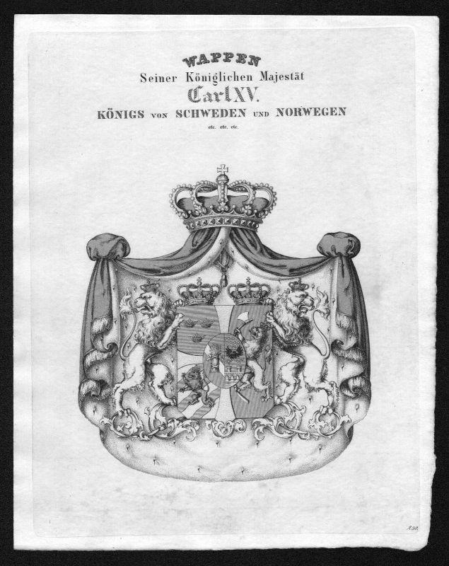 1820 - Schweden Norway Sweden Norway Wappen Adel coat of arms heraldry Heraldik
