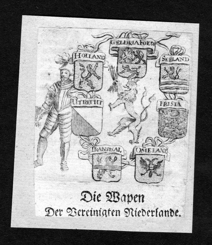1750 - Vereinigte Niederlande Seeland Holland Wappen Adel coat of arms Heraldik