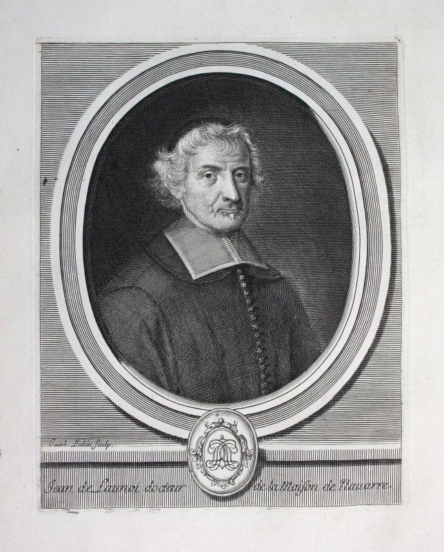 Ca. 1700 Jean de Launoy pretre priest historien Historiker Portrait Kupferstich
