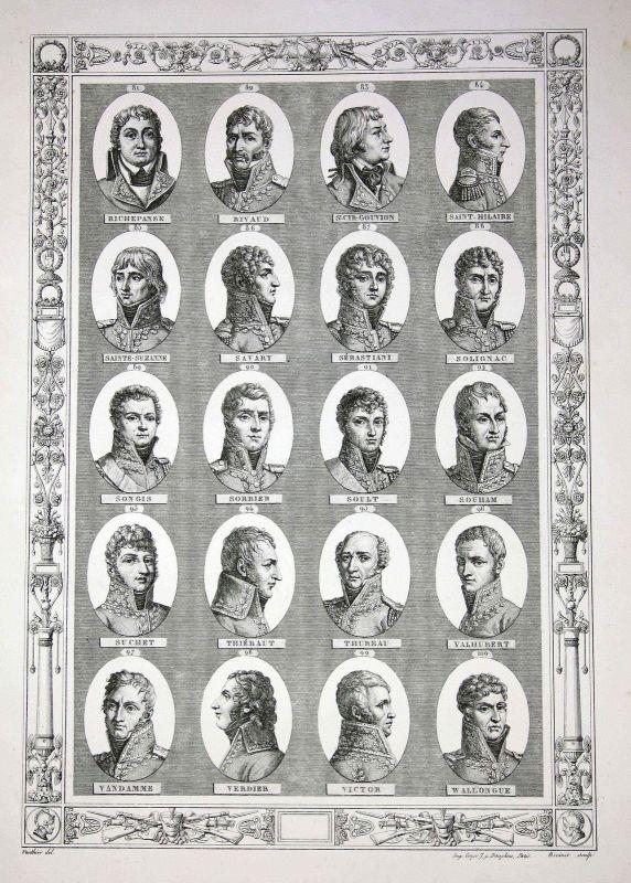 Napoleon Bonaparte Generäle generals Herrführer commander Portraits portrait R-W