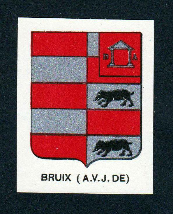 Ca. 1880 Bruix Wappen Adel coat of arms heraldry Lithographie antique pri 146233